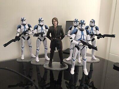 Star Wars Black Series 501st Clone Trooper Lot Of 5 Troopers + Anakin Skywalker