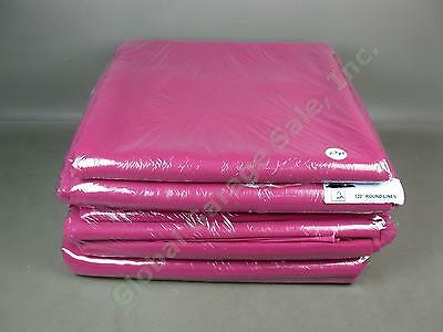 """8 Round 120"""" 108"""" Red Raspberry Tablecloth Wedding Party Event Linens Lot NO RES"""