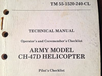 Boeing CH-47D Chinook Helicopter Pilot's Checklist
