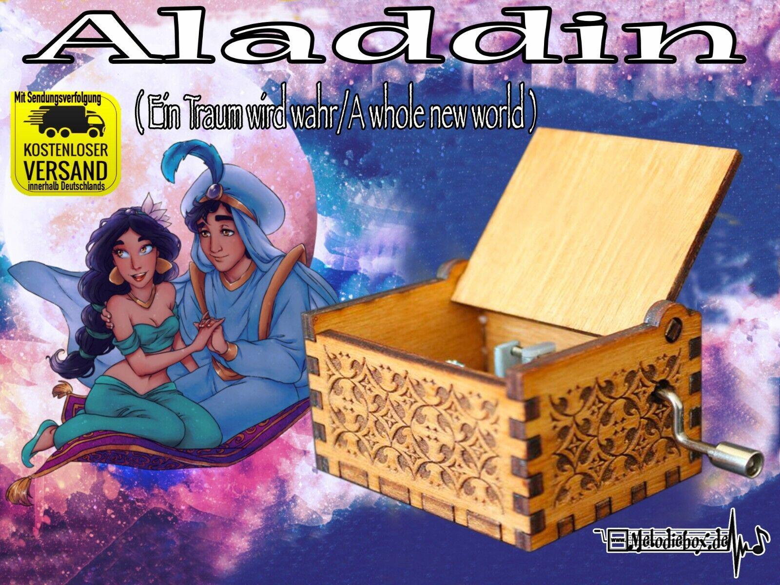 Aladdin A whole new world Ein Traum wird wahr Spieluhr Musicbox Neu Fanartikel