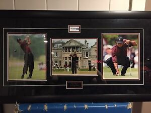 Tiger Woods British Open framed photos