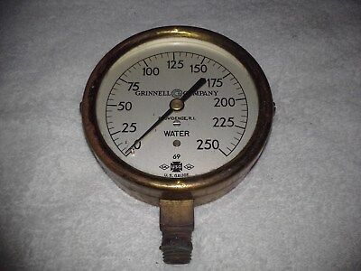 Brass Grinnell company water gauge steam vintage