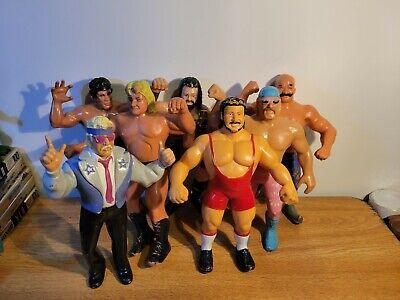 WWF LJN Figure Lot of 7 Titan Sports Wrestling 80s Iron Sheik Ricky Steamboat