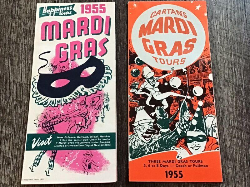 2 Mardi Gras 1955 Brochure Poster Promo's