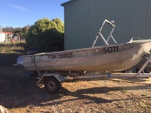 14ft Clark tinny 25hp Evinrude outboard