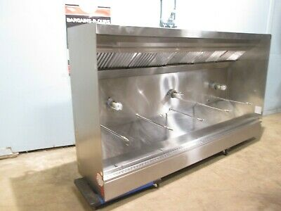 Hd Commercial Ss 105l Lighted Restaurant Type I Exhaust Hood Wreturn Air Ducts