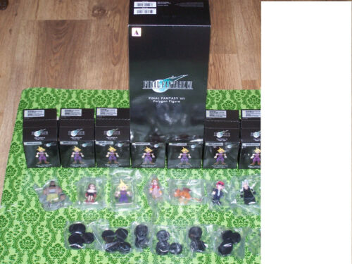 Final Fantasy 7 Remake Polygon Figure SET of 7 NO CHASE *GR8 PICS*FAST SAFE SHIP