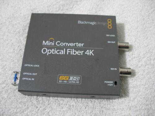 Blackmagic Design Mini Converter Optical Fiber 4K w/ 6G Transceiver