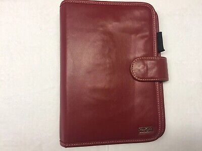 Day One Franklin Covey Red Organizerplanner 7 Ring 10 X 7 Zipper Pocket
