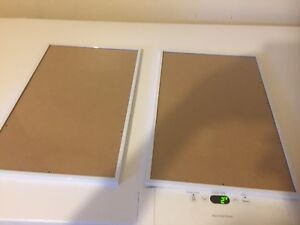 Group of two white metal frame picture frames. Brand new