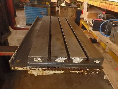 45.5 X 23.25 X 6 Steel Welding T-slotted Table Cast Iron Layout Plate3 Slot