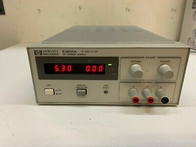 Hp Agilent E3615a Dc 60w Benchtop Linear Power Supply 0 - 20v 0 - 3 Amp