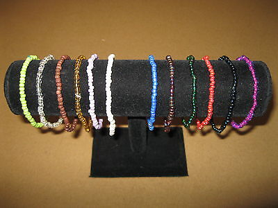 (Stretch Stackable Glass Bead Anklets - Handmade)