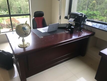 Executive Office table and 2 shelves