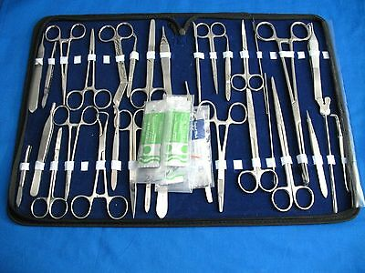 72 Pc Minor Micro Surgery Surgical Veterinary Dental Instruments Student Set Kit