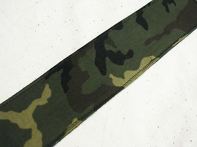 PERRI'S Camo Camouflage nylon and leather GUITAR strap NEW