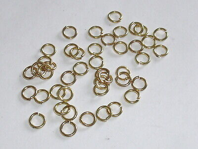 100 Stück Metall Spaltringe Binderringe Ringe 6 mm rund gold NEU rostfrei 0431 (Runde Ring Binder)