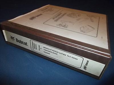 Bobcat Rotary Cutter Concrete Mixer Grader Service Shop Repair Manual Book