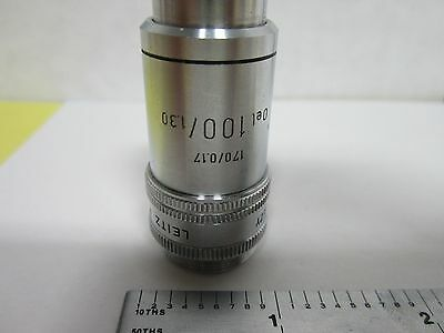 Microscope Part Objective Leitz Germany Plezy 100x Optics As Is Binh6-27