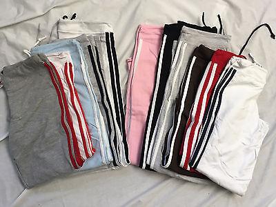 Womens Sweatpants gray white red brown blue pink black XS Small Medium LG XL -
