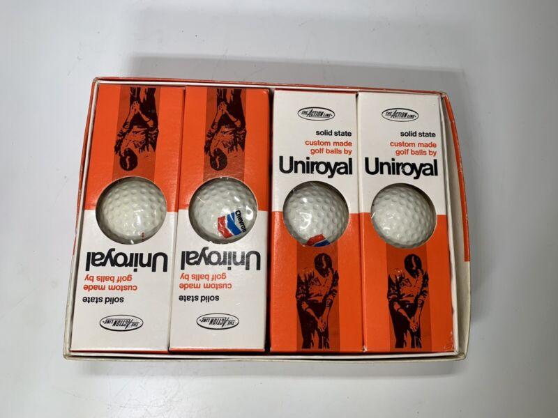Vintage Uniroyal custom Made Golf Balls Chevron Set of 12 New