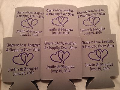 Wedding Koozies Personalized Design 1988 1 to 300 custom can party favors - Personalized Koozie