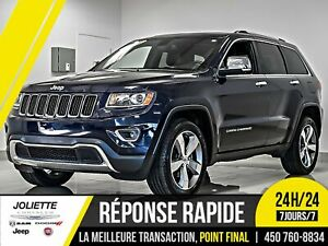 2015 Jeep Grand Cherokee Limited, 4X4, CUIR, TOIT, JAMAIS ACCIDE