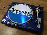 Turntable Technics Sl-1200 Mk2 Blue, Leds Blue , New, Perfect 100 % -  - ebay.es