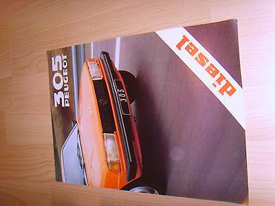 Car brochures 1979 Peugeot 305 Diesel