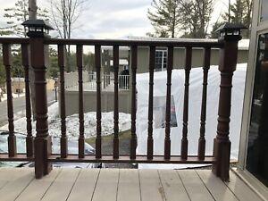 Garde/rampe de patio