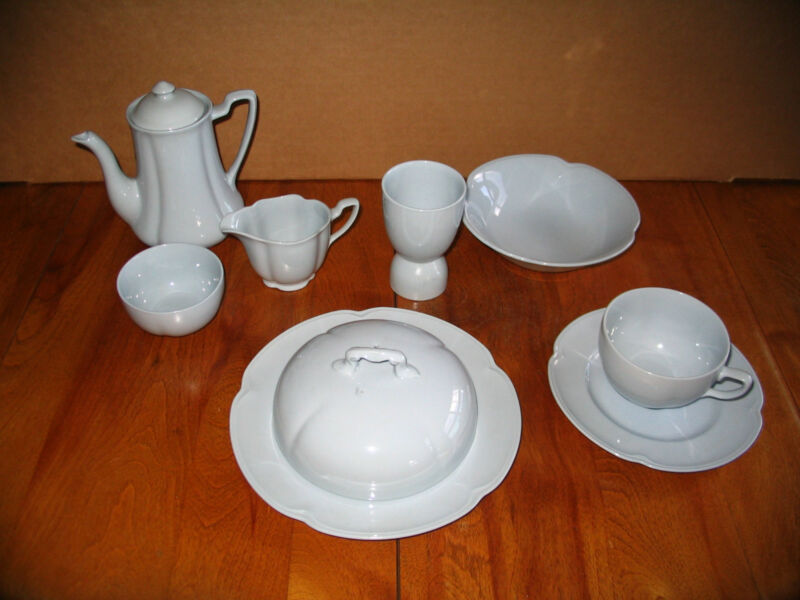 Vintage Johnson Bros Greydawn Breakfast Set. 9 pcs.