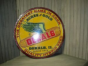 Dekalb Seed Corn Metal Round Sign-New-Winged Ear-Very Colorful