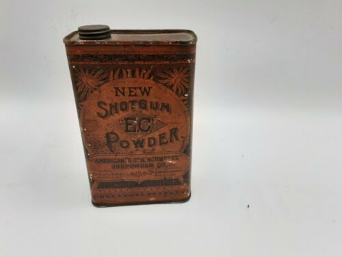 NOld 1890 s Shotgun E.C. Powder Tin- The American E.C Schultze Gunpowder CO  - $137.50