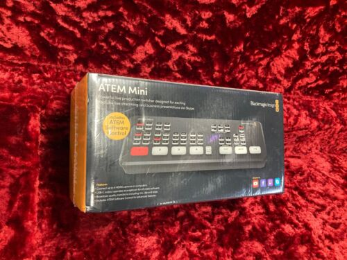 Black Magic ATEM Mini Live Production Switcher Brand New