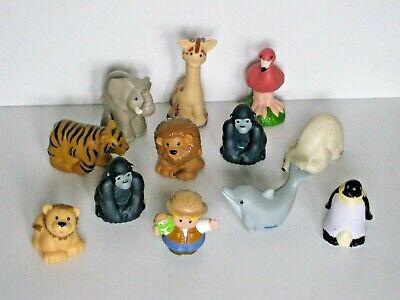 Fisher Price ZOO TALKERS Figure Lot FLAMINGO PENGUIN GORILLA DOLPHIN TIGER LION+