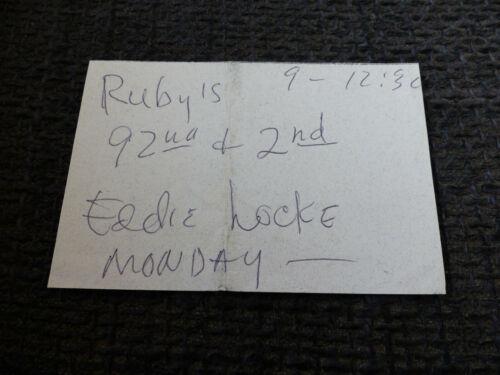 EDDIE LOCKE signed 2.75x4 inch Paper JAZZ autograph InPerson LOOK