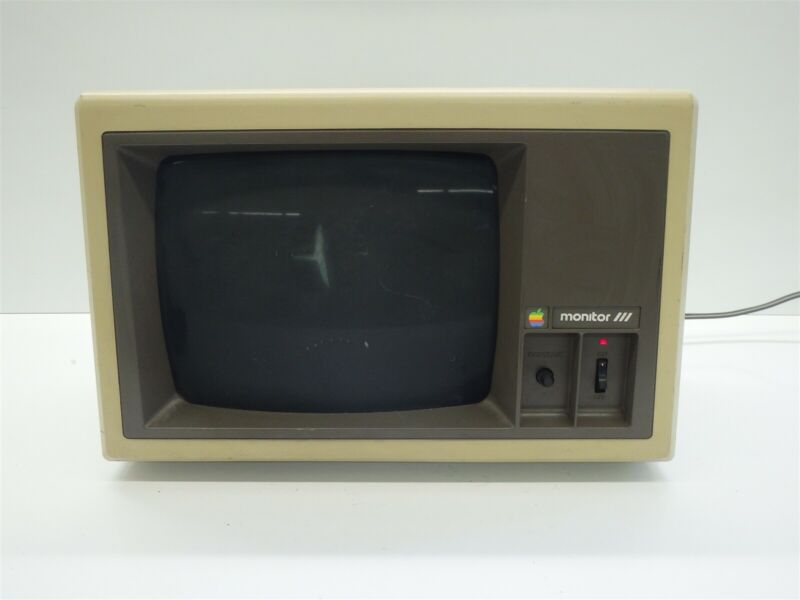 Vintage Apple III Monitor Model A3M0039 Monochrome Green Phosphor CRT Display