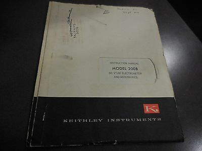 Keithley Manual For Model 200b Dc Vtvm Electrometer And Accessories