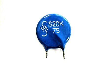 Mov Metal Oxide Varistor 75 Volt 20 Amp S20k75 Prep Leadnosqty 5 Eak1