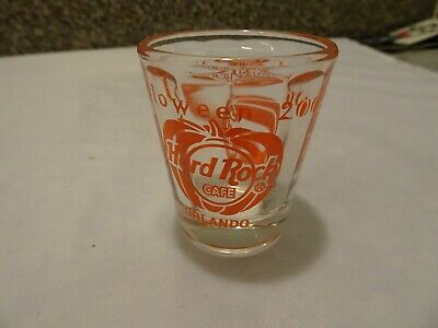 Hard Rock Cafe Orlando 2002 Halloween Party Scareway to Heaven shot Glass