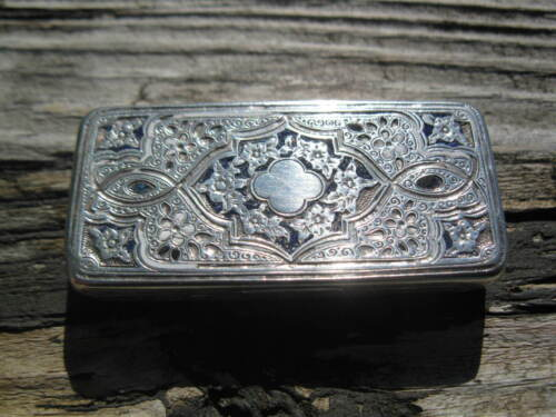 Rare French 800 silver alloy enamel vermeil vinaigrette