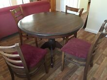 Round Dining Table 4 Chairs Clontarf Redcliffe Area Preview