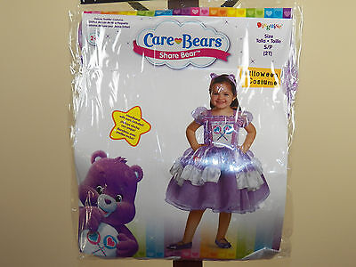 Care Bears Share Bear Deluxe Halloween Costume Purple Girl Toddler Size 2T *NEW* - Toddler Care Bear Costume