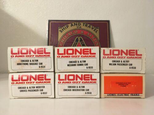 LIONEL Chicago & Alton 6 Passenger Cars 027 Gauge