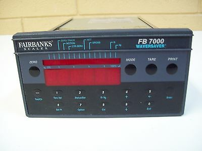 Fairbanks Scale Fb7000 Controller W Waversaver - Used - Free Shipping