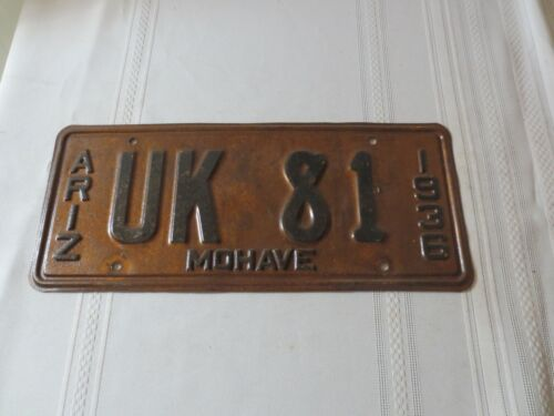 1936 ARIZONA LICENSE PLATE UK-81