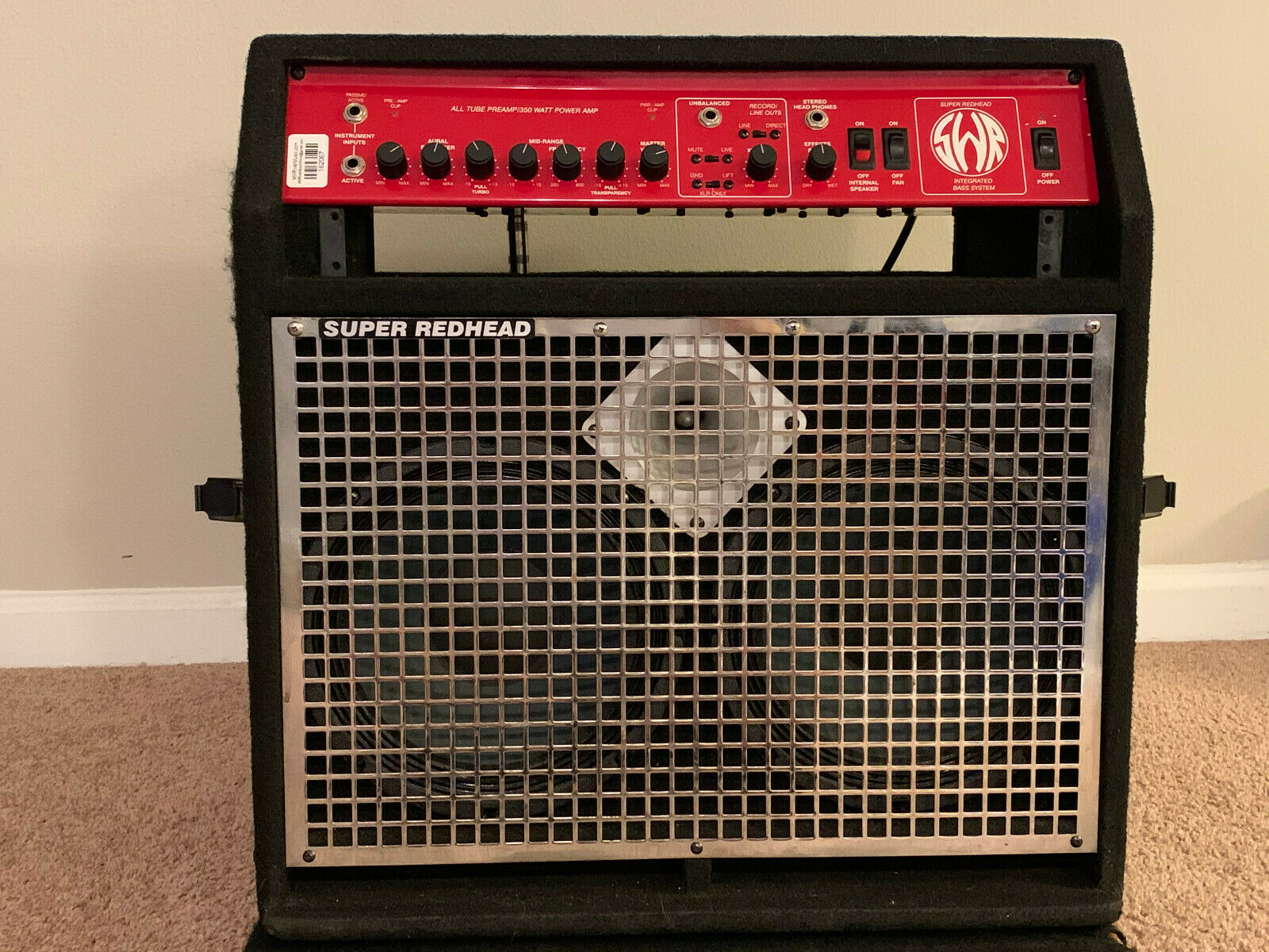 Swr super redhead bass amplifier combo, brother sister make love