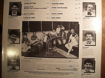 RIGO WINTERSTEIN SWINGTETT (LP) sinti=jazz DÜSSELDORF 1987 zigeuner HOT CLUB