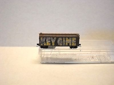 MICRO-TRAINS LINE Z SCALE WEATHERED 40' BOX CAR AT&SF 502 44 060 for sale  Windsor