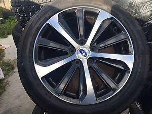 "4x LATEST GENUINE SUBARU LIBERTY 2016 18"" Wheels & DUNLOP Tyres F Blakehurst Kogarah Area Preview"
